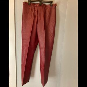 CLIO Leather Pants Vintage Red